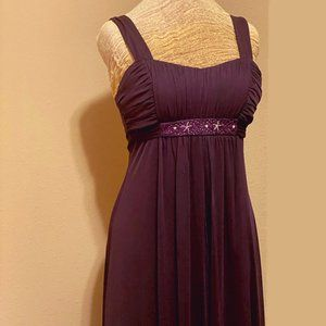 Floor Length Dark Amethyst Occasion Dress
